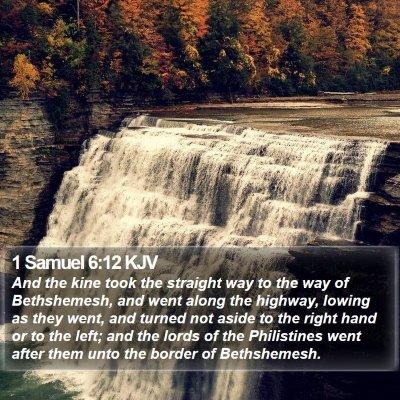 1 Samuel 6:12 KJV Bible Verse Image