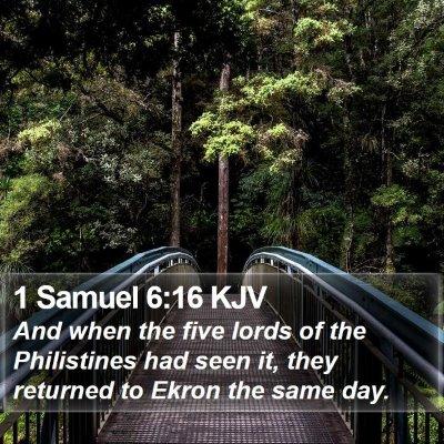 1 Samuel 6:16 KJV Bible Verse Image