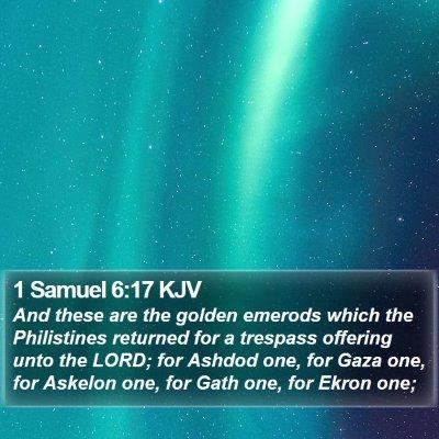1 Samuel 6:17 KJV Bible Verse Image