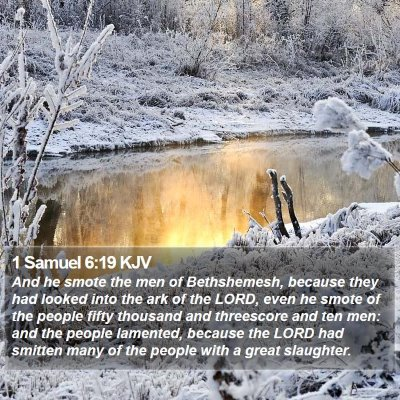 1 Samuel 6:19 KJV Bible Verse Image