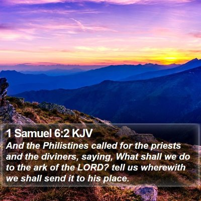 1 Samuel 6:2 KJV Bible Verse Image