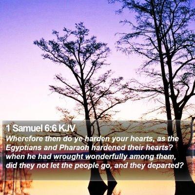 1 Samuel 6:6 KJV Bible Verse Image