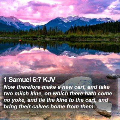 1 Samuel 6:7 KJV Bible Verse Image