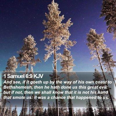 1 Samuel 6:9 KJV Bible Verse Image