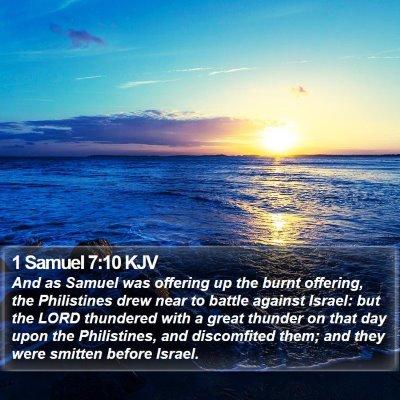 1 Samuel 7:10 KJV Bible Verse Image