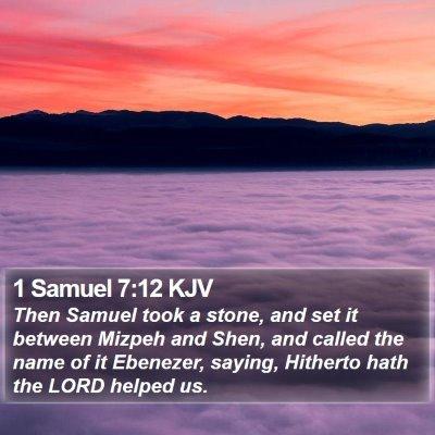 1 Samuel 7:12 KJV Bible Verse Image