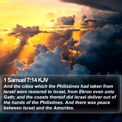1 Samuel 7:14 KJV Bible Verse Image
