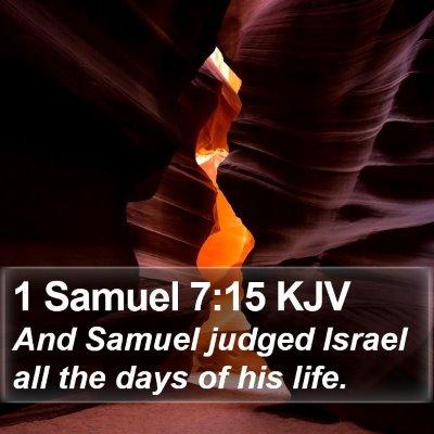 1 Samuel 7:15 KJV Bible Verse Image