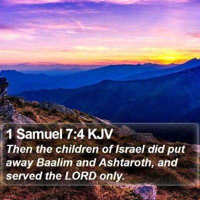 1 Samuel 7:4 KJV Bible Verse Image