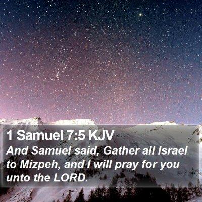 1 Samuel 7:5 KJV Bible Verse Image
