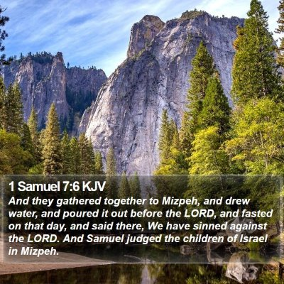 1 Samuel 7:6 KJV Bible Verse Image