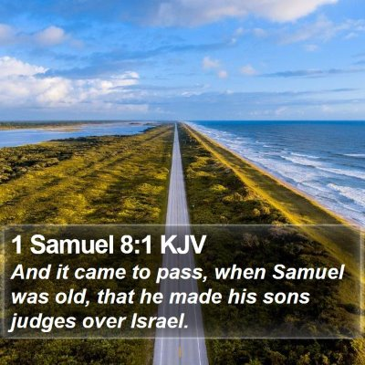 1 Samuel 8:1 KJV Bible Verse Image