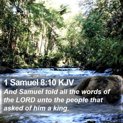 1 Samuel 8:10 KJV Bible Verse Image