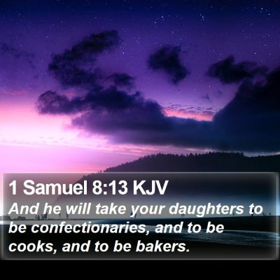 1 Samuel 8:13 KJV Bible Verse Image