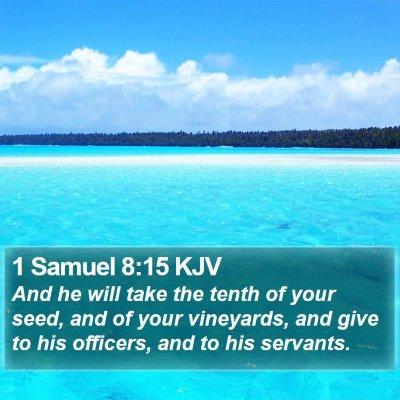 1 Samuel 8:15 KJV Bible Verse Image