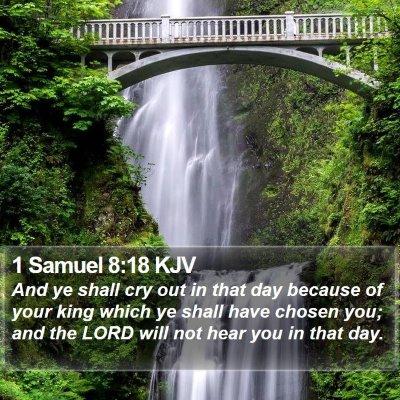 1 Samuel 8:18 KJV Bible Verse Image