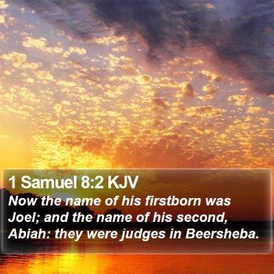 1 Samuel 8:2 KJV Bible Verse Image