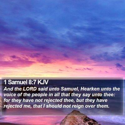 1 Samuel 8:7 KJV Bible Verse Image