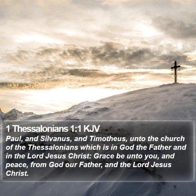 1 Thessalonians 1:1 KJV Bible Verse Image