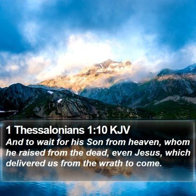 1 Thessalonians 1:10 KJV Bible Verse Image