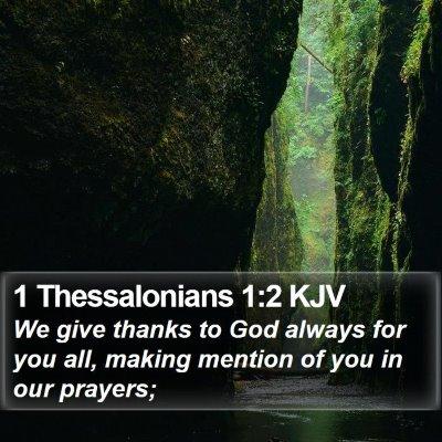 1 Thessalonians 1:2 KJV Bible Verse Image