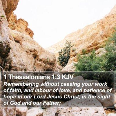 1 Thessalonians 1:3 KJV Bible Verse Image