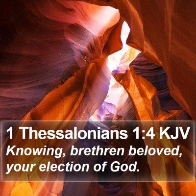 1 Thessalonians 1:4 KJV Bible Verse Image
