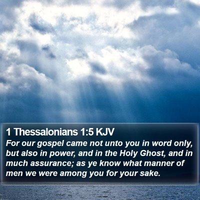1 Thessalonians 1:5 KJV Bible Verse Image
