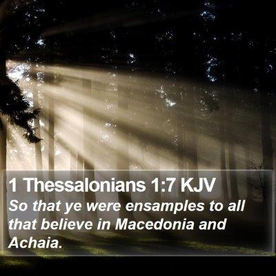 1 Thessalonians 1:7 KJV Bible Verse Image