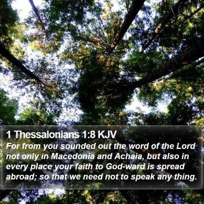1 Thessalonians 1:8 KJV Bible Verse Image