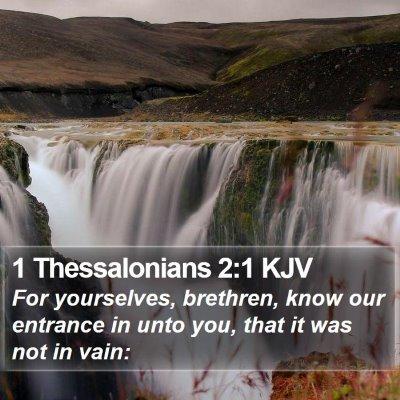 1 Thessalonians 2:1 KJV Bible Verse Image