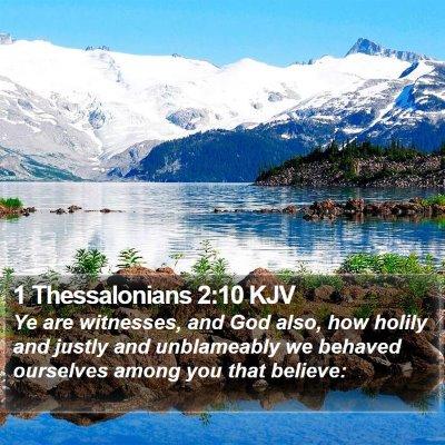 1 Thessalonians 2:10 KJV Bible Verse Image