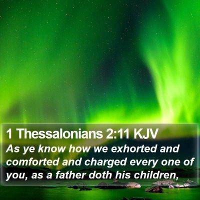 1 Thessalonians 2:11 KJV Bible Verse Image