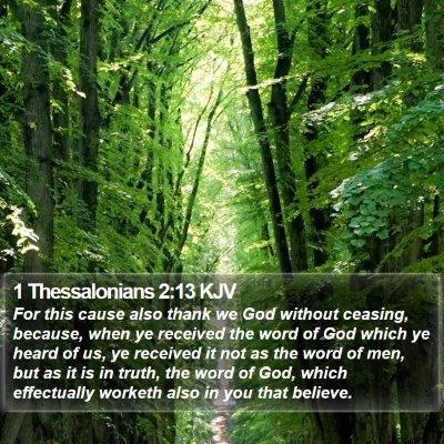 1 Thessalonians 2:13 KJV Bible Verse Image