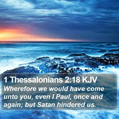 1 Thessalonians 2:18 KJV Bible Verse Image