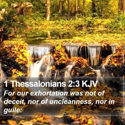 1 Thessalonians 2:3 KJV Bible Verse Image