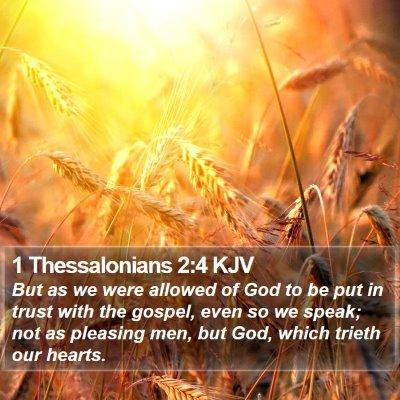 1 Thessalonians 2:4 KJV Bible Verse Image