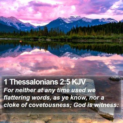 1 Thessalonians 2:5 KJV Bible Verse Image