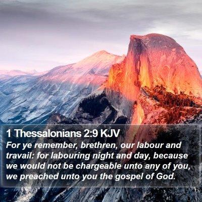 1 Thessalonians 2:9 KJV Bible Verse Image