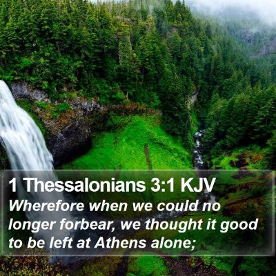 1 Thessalonians 3:1 KJV Bible Verse Image