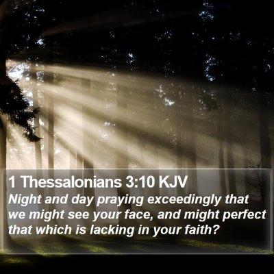 1 Thessalonians 3:10 KJV Bible Verse Image