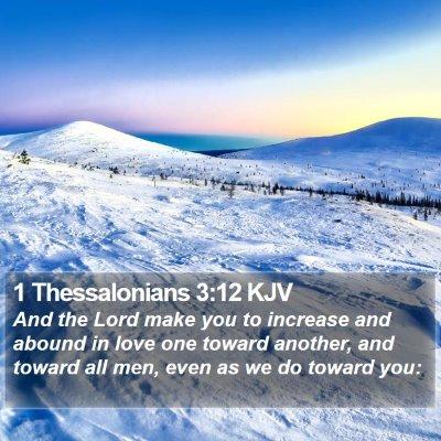 1 Thessalonians 3:12 KJV Bible Verse Image