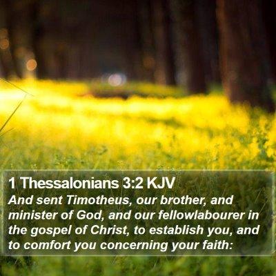 1 Thessalonians 3:2 KJV Bible Verse Image