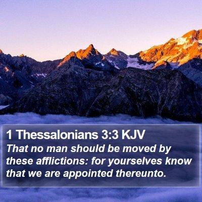 1 Thessalonians 3:3 KJV Bible Verse Image