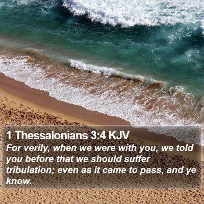 1 Thessalonians 3:4 KJV Bible Verse Image