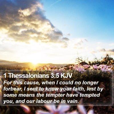 1 Thessalonians 3:5 KJV Bible Verse Image