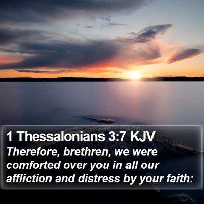 1 Thessalonians 3:7 KJV Bible Verse Image