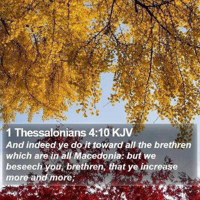 1 Thessalonians 4:10 KJV Bible Verse Image