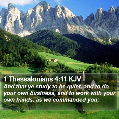 1 Thessalonians 4:11 KJV Bible Verse Image