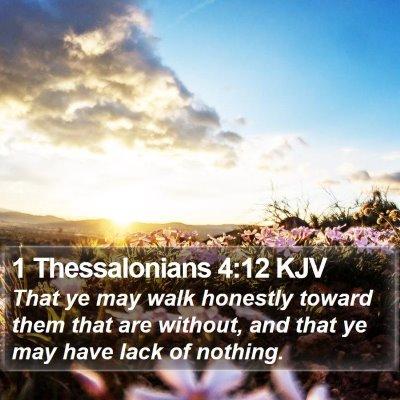 1 Thessalonians 4:12 KJV Bible Verse Image